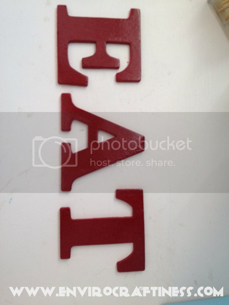 Red Eat wooden letters, Uploaded from the Photobucket iPhone App