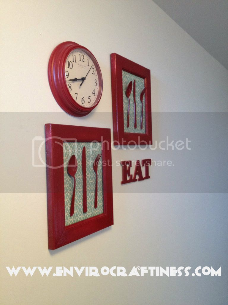 Red Cutlery Wall Art, Uploaded from the Photobucket iPhone App